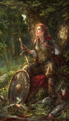 """spassundspiele: """" Reward – fantasy concept art by Andrey Vasilchenko """""""
