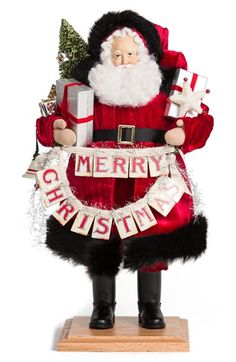 Lynn Haney 'Christmas Greeting' Santa Figurine available at #Nordstrom