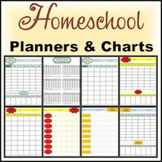 Free #Homeschool Planners and Charts