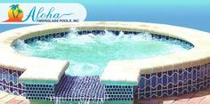 """Pearl Shallow 1a: The Pearl Shallow is a shallow version of the Pearl Spa and is perfect when used as a splash/kiddie pool. When it is incorporated beside an Aloha pool, it creates an elegant water feature. The Pearl Shallow is 7'6"""" round and is 8"""" deep.  For more information about Aloha Fiberglass Pools or to find a local pool builder in your area that can assist you, visit www.AlohaFiberglassPools.com or call (800) 786-2318."""