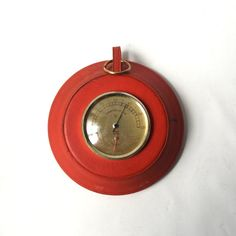 vintage 1960's thermometer red leather wall by RecycleBuyVintage, $25.00