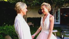 Ellen and Portia's wedding video. omg this is so cute. part where they see each other dressed up -- so clearly in love with each other i love this