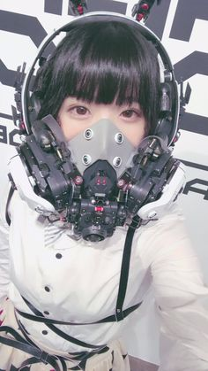 Arte Cyberpunk, Cyberpunk Girl, Cyberpunk Fashion, Character Outfits, Character Art, Character Design, Post Apocalyptic Art, Aesthetic Japan, Mask Design