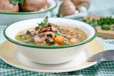 Zupa z brązowych pieczarek