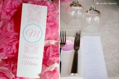 The menu for this monogram baptism