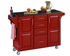 A portable kitchen island. I like. (And cute to boot.)