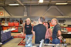American Jewelry and Loan - Hardcore Pawn visit OCC! We had a great afternoon meeting and showing the crew from American Jewelry and Loan - Hardcore Pawn around the complex. Then a great meal in the OCC Cafe. Thanks for stopping by! Les Gold, Orange County Choppers, American Chopper, Big Time, American Jewelry, Meal, Abstract, Summary, Food