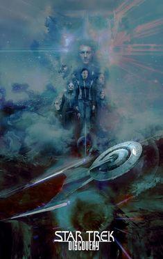 The Geeky Nerfherder: 'Star Trek Discovery' by Christopher Shy. Star Trek 2009, Star Trek Tos, Star Wars, Akira, Star Trek Wallpaper, Stark Trek, Star Trek Convention, Perry Rhodan, Watch Star Trek