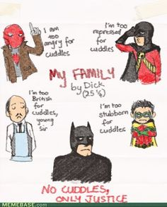 Superheroes: Cuddles are forchumps