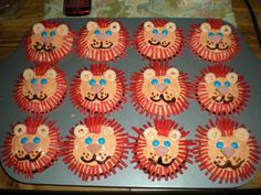 Lion cupcakes I made for my kindergarten class a few years ago.