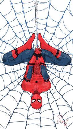 Spider-Man from Spider-Man: Homecoming, Omer Al Amin – Marvel Comics Marvel Avengers, Marvel Art, Marvel Dc Comics, Marvel Heroes, Ms Marvel, Captain Marvel, All Spiderman, Spiderman Drawing, Amazing Spiderman