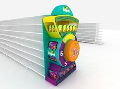 Pampers by Martin Migliaro, via Behance Rak Display, Shop Display Stands, Display Design, Pos Design, Retail Design, Fisher Price, Fun Places For Kids, Baby Event, Point Of Purchase