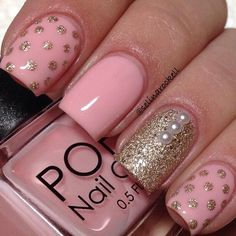 cute nail Art designs 2016 for women - style you 7 Get Nails, Fancy Nails, Trendy Nails, Pink Nails, Hair And Nails, Pink Manicure, Nail Art Designs 2016, Cute Nail Art Designs, Nail Design