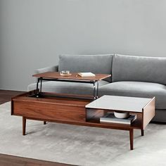 West Elm offers modern furniture and home decor featuring inspiring designs and colors. Create a stylish space with home accessories from West Elm. Diy Coffee Table Plans, Reclaimed Wood Coffee Table, Walnut Coffee Table, Coffee Table With Storage, Coffee Table Design, Coffee Tables, Coffee Ideas, Oversized Furniture, Modern Furniture