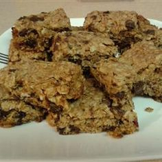 From Allrecipes-chewy granola bars.  This is my new bar recipe.  I've tried several homemade bars and this is my favorite.  No complaints from the kids. They loved them!