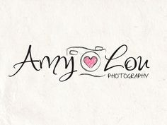 Photography logo - watermark logo camera logo design template. Digital download DIY logo psd logo