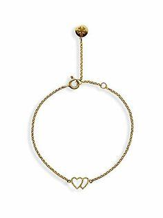 Chelsea Bracelet Yellow Twin Heart