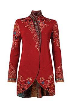 IVKO Long Jacket with Embroidery on the Back, Cherry (US ... https://www.amazon.com/dp/B01KXVD84U/ref=cm_sw_r_pi_dp_x_YSpJybD7792VA