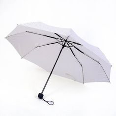 White Manually 3 Folding Wind Resitant And Uv Protection Ladies Fashion Umbrella >>> See this great image  : Umbrella Racks