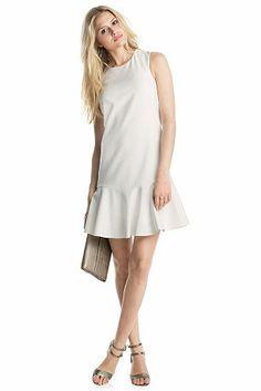 ESPRIT Stretchiges Etui-Kleid in Crêpe-Qualität, vestido dress