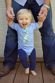 Lt Blue Baby Boy Tie Bodysuit NEW Dad Gift  by WeChooseJoy on Etsy, $15.50