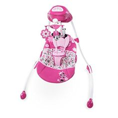 Swings Disney Minnie Mouse Garden Delights Swing for sale online Minnie Mouse Nursery, Disney Nursery, Baby Mouse, Mickey Mouse, Baby Swings And Bouncers, Pink Mobile, Mobile Baby, Baby Doll Accessories, Iphone Accessories