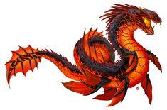 Thermal-Tidal-Wyrm by Davesrightmind on DeviantArt Fantasy Monster, Monster Art, Creature Concept Art, Creature Design, Mythical Creatures Art, Fantasy Creatures, Beast Creature, Snake Art, Alien Design