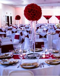America Y Samantha Burgundy Wedding Red Garden Quinceanera Decorations Chapel