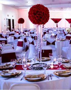America Y Samantha Burgundy Wedding Red Garden