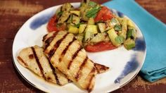 Lemon-Rosemary Grilled Chicken with Charred Vegetable Salad Recipe | The Chew - ABC.com