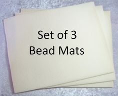 Beading Mat, Vellux Mat, 10x12 Bead Mat, 3 Pack Bead Mats, Beige Bead Mats Beading Tools, Beaded Boxes, Work Surface, Are You The One, Packing, Beige, Projects, Fabric, Free