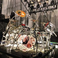 This sick looking Pearl Crystal Beat belongs to 🔥⠀ . Ray Luzier, Pearl Drums, Drummer Boy, Double Bass, Drum Kits, Korn, Out Of This World, Percussion, Music Is Life