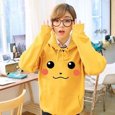 Pikachu Hoodie - Rebel Style Shop - Drive off the gloomy days with this bright and oh-so-cute Pikachu hoodie.