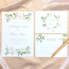 Floral Wedding Invitations, Wedding Stationery, Stationery Design, Dahlia, Rsvp, Signage, Watercolour, Cards, Watercolor
