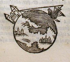 """Dibujo de una edición de 1550 de """"De sphaera mundi"""", el libro de astronomía más influyente del siglo XIII, escrito por Juan de Sacrobosco."""