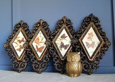 Hey, I found this really awesome Etsy listing at https://www.etsy.com/listing/214437418/vintage-framed-butterfly-wall-hangingset