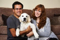 Buddy, a golden Retriever puppy reunited with his owners after being stolen from his back garden Colin Butcher The Pet Detective
