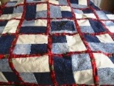 How to quilt - denim quilts are a great way of using up jeans that the children have outgrown. This free quilt pattern shows you how to make one.