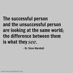 The Difference of Successful and Unsuccessful Person