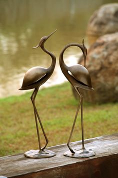 Captivating SPI Gallery, Stylized Garden Heron Pair, Waterfowl Sculpture In Aluminum  Approximately U0026 H X And Lbs. Art Deco Sculpture Meticulously Hand Finished  Using ...