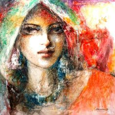 Life history and work of famous watercolorist Moazzam Ali. India Painting, Woman Painting, Painting Canvas, Beautiful Paintings Of Nature, Art Beat, Indian Art Paintings, India Art, Woman Drawing, Acrylic Art