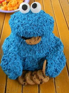 Cookie Monster, birthday cake