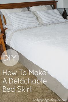 Detachable bed skirt.  I will be rehabbing my old one this week.