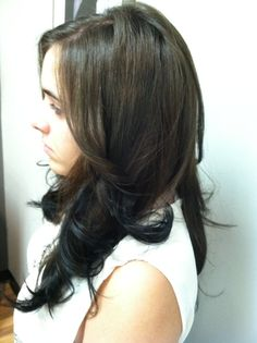 Ombre color, cut, and style by Jackie