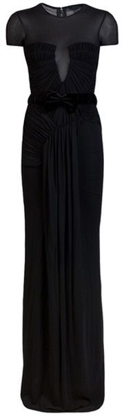 Burberry Prorsum Rouched Gown in Black $2495