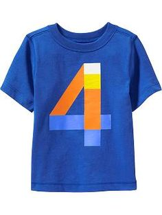 """""""4"""" Tees for Toddler. Old navy. For 4th bday?"""