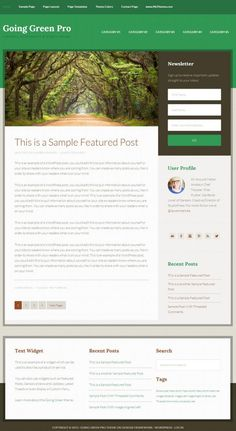 Going Green Theme Review - StudioPress