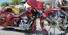 Candy Apple Red over Silver is always one of our most popular colors! Candy Apple Red, Red Candy, Auto Paint, Candy Paint, Yellow Pearl, Baggers, Popular Colors, Car Painting, Paint Colors