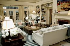 "The living room in the movie ""Somethings Gotta Give"". Set design by Nancy Meyers."