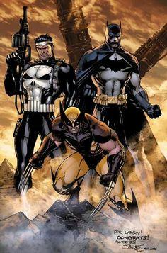 Wolverine , Punisher, Batman